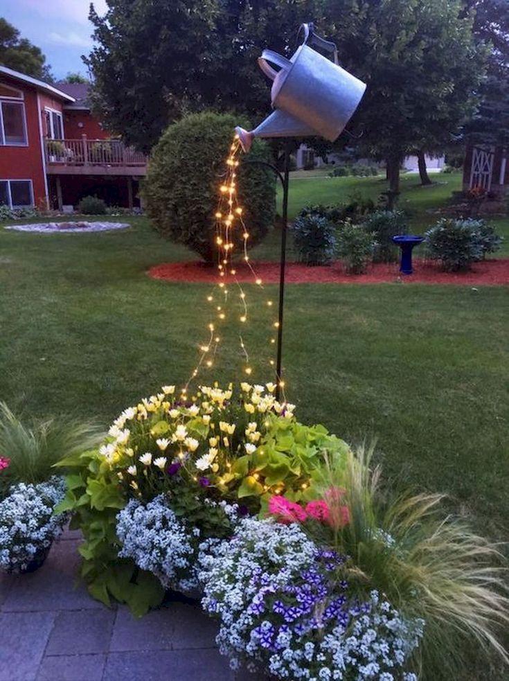 Bakgårdar trädgårdsbelysning design idéer