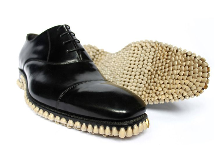 "Saatchi Online Artist: Fantich Young; Mixed Media, 2010, Sculpture ""Apex Predator Shoes. 2010 """