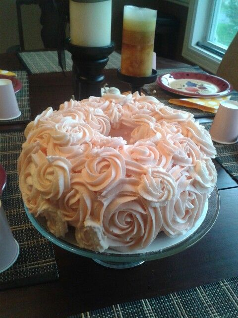 My Version Of A Bundt Pound Cake Decorated In Buttercream Icing