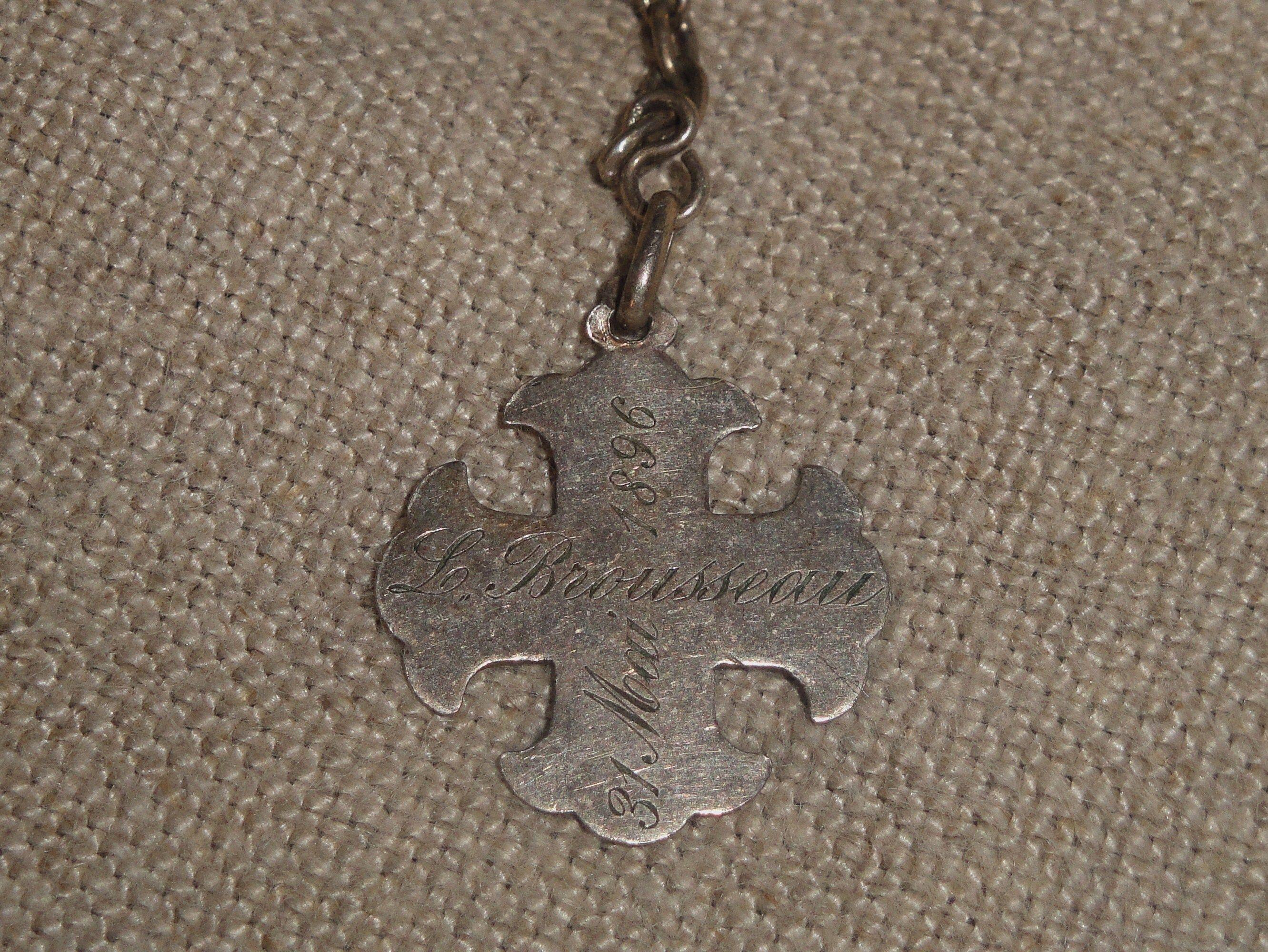 Inscription to rosary bracelet