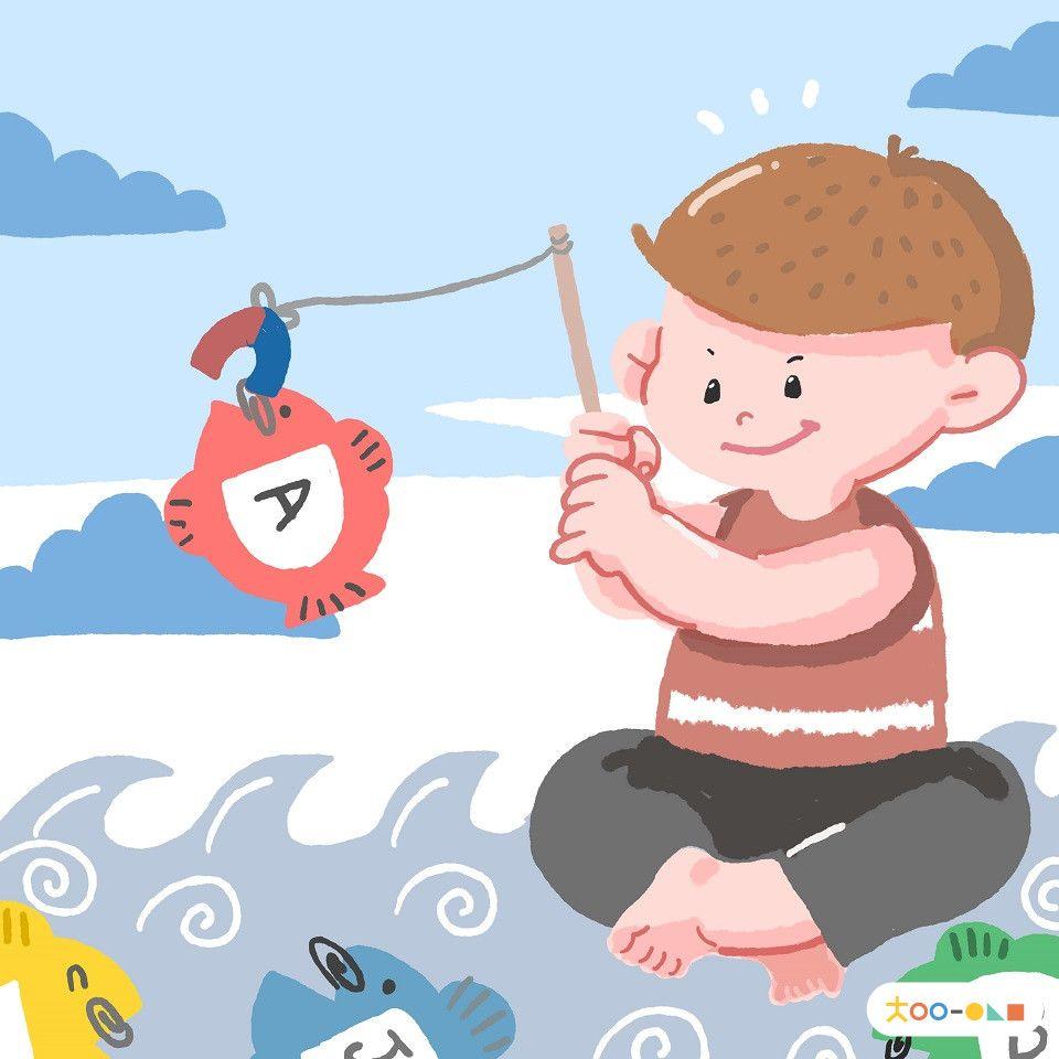 Play Memancing Huruf Alfabet Mainan Anak Mainan Anak