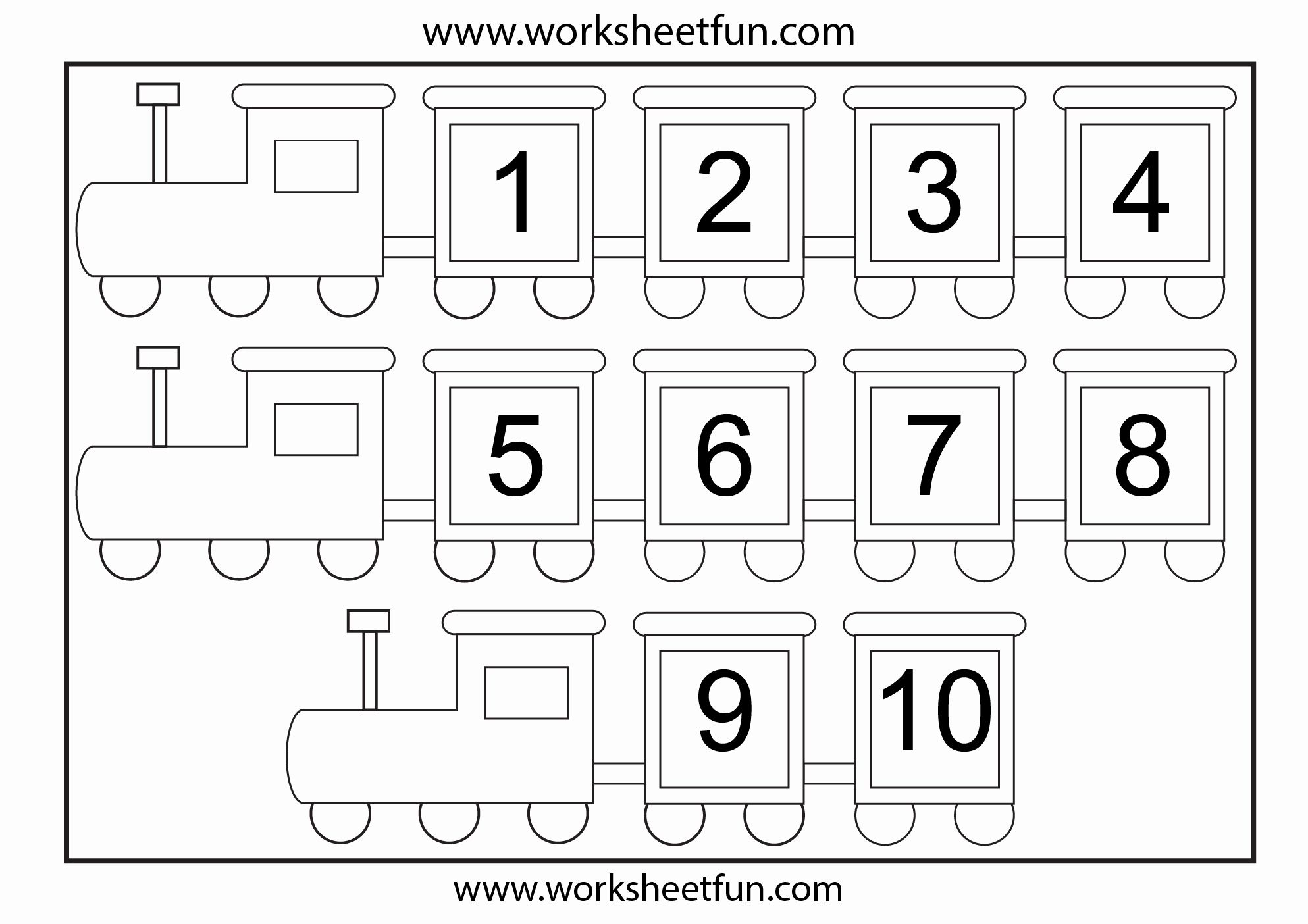 Free Printable Number Worksheets In