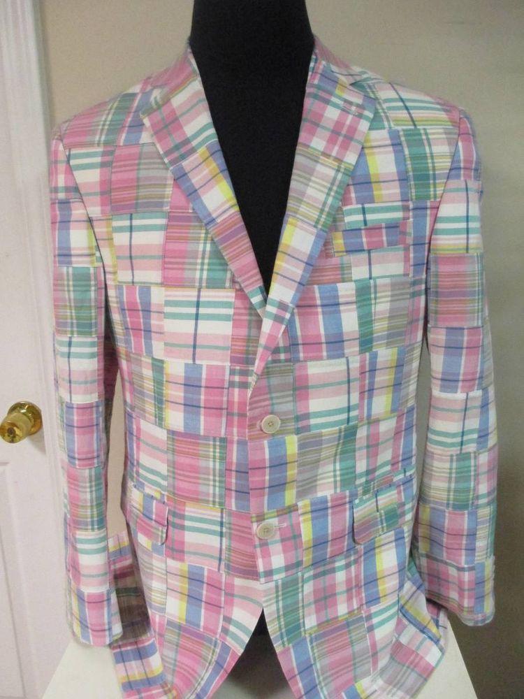 Nwt Vineyard Vines Men S Sport Coat Jacket Blazer Madras