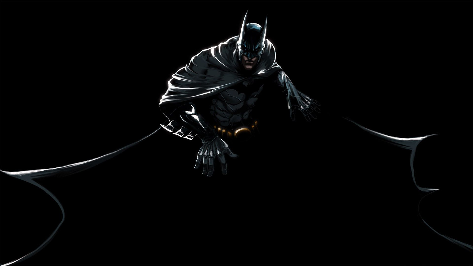 batman on black background in hd wallpaper