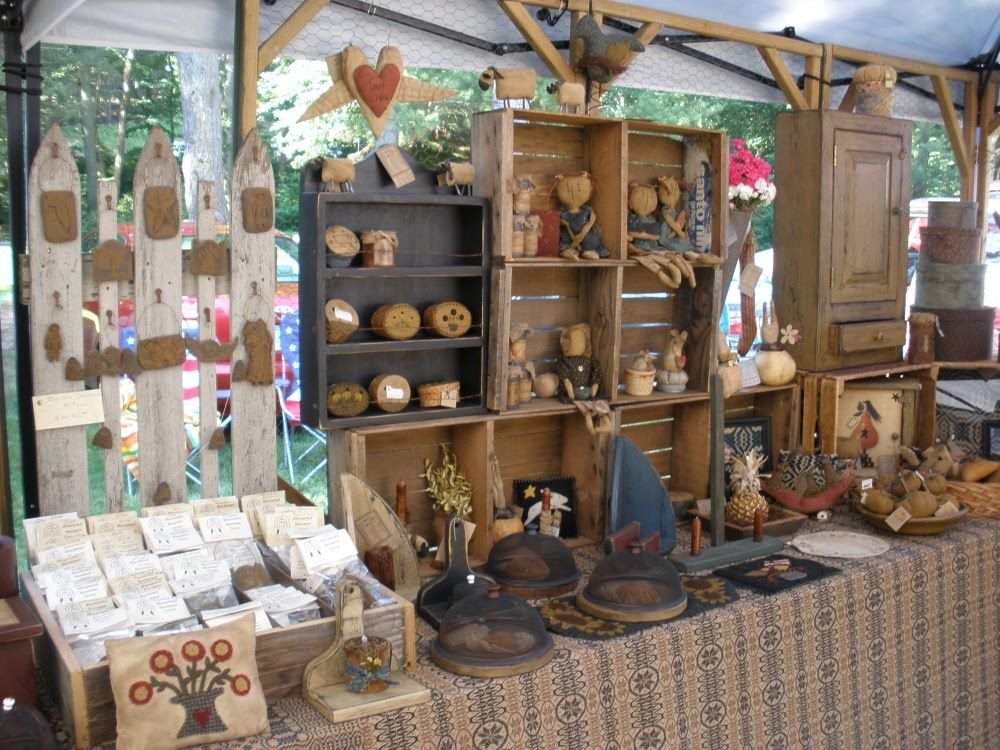 craft show booth display ideas country primitive crafts teresa s primitive treasures 6373