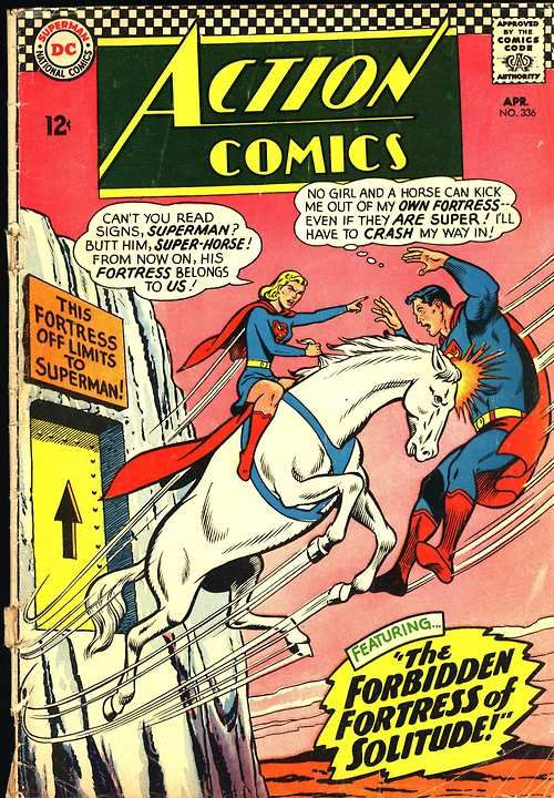 Action Comics #336, april 1966, cover by curt Swan and George Klein.