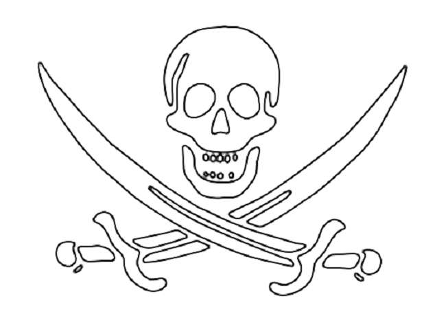 Free Printable Skeleton Pirate Coloring Pages Pirate Coloring Pages Flag Coloring Pages Pirate Flag