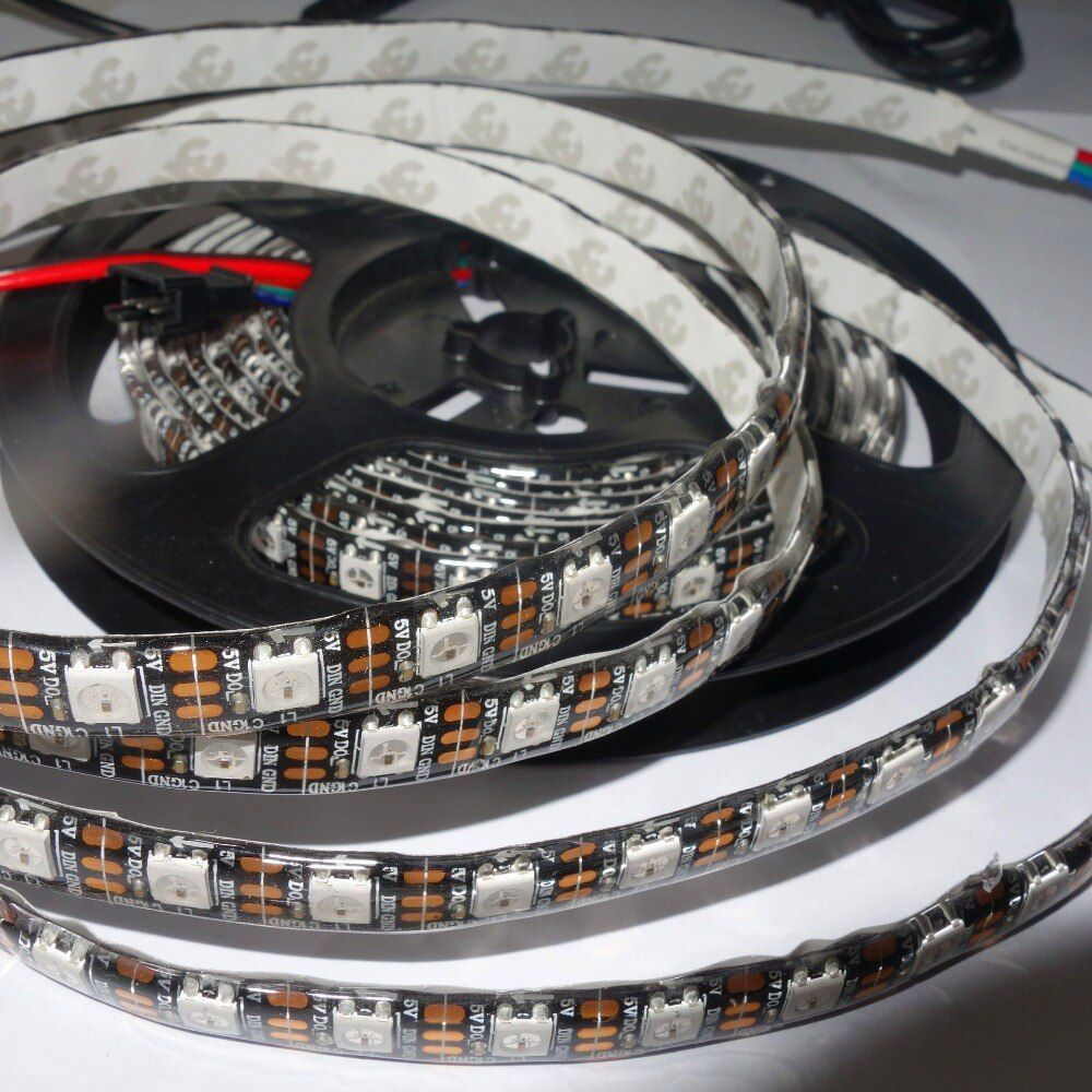 4m 74leds M Dc5v Addressable Ws2812b Led Pixel Strip Waterproof By Silicon Coating 74pcs Ws2812b M With 74pixels Black Pcb Buy Now Price 35 Usd 4m 7