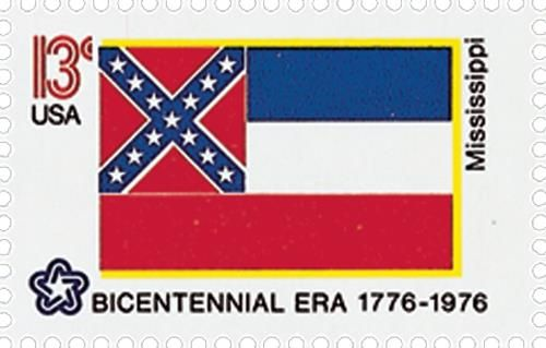 1652 1976 13c State Flags Mississippi Mississippi State Flags Stamping Companies