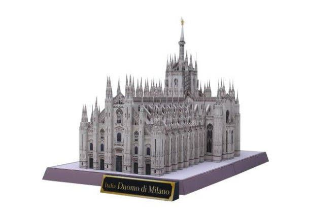 3D paper DIY toy assemble puzzle Italy Milan Cathedral Church of Duomo di Milano
