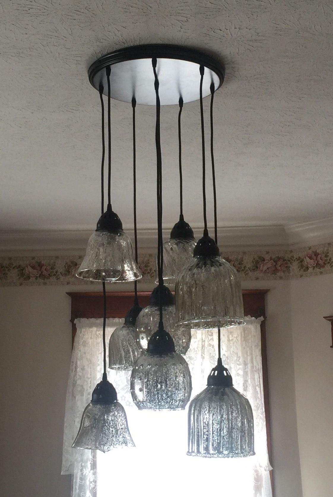 Pottery Barn Kenzie Mercury Glass Chandelier Gorgeous