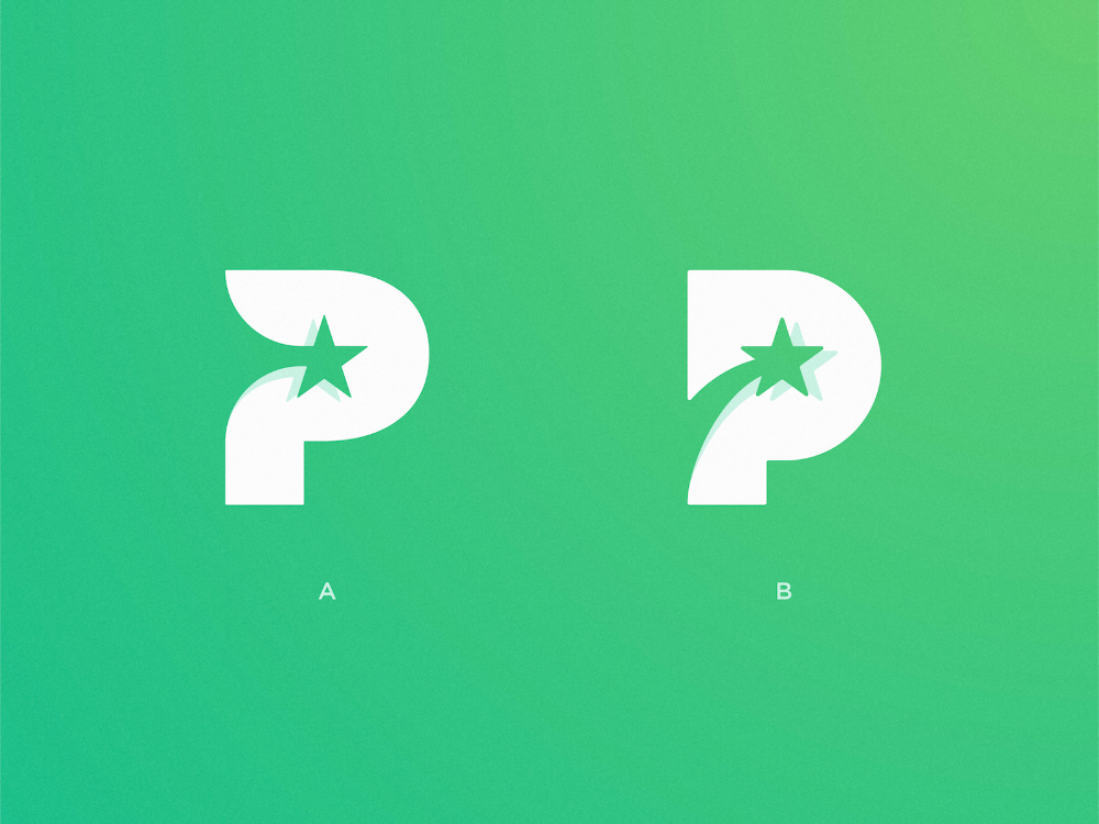 P Star Logo Star Logo Design Star Logo Logo Design Creative