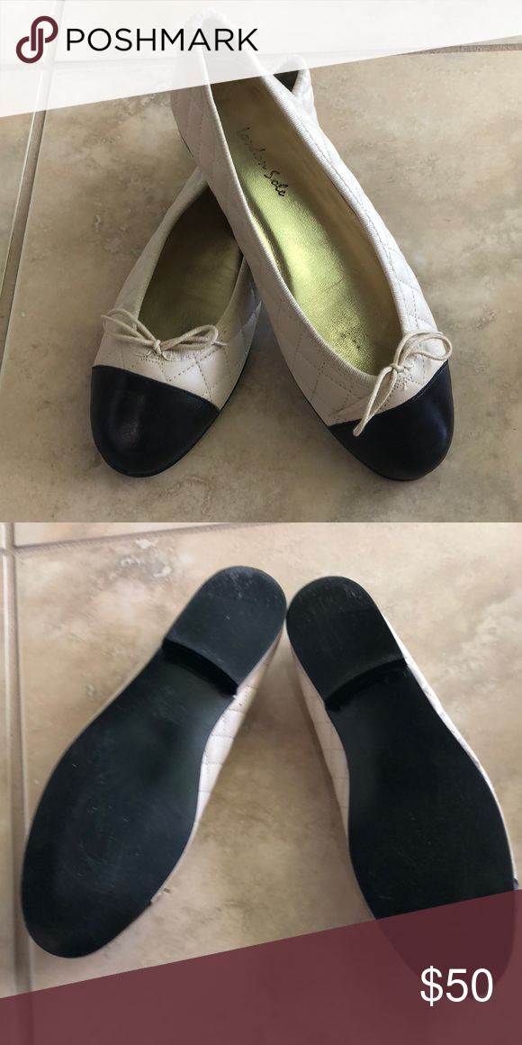 5f55c4b1221ae0 Almost new quilted leather London Sole Shoes VERY gently worn designer  flats. Ballet style with laces to tighten or loosen. London Sole Shoes  Flats & ...