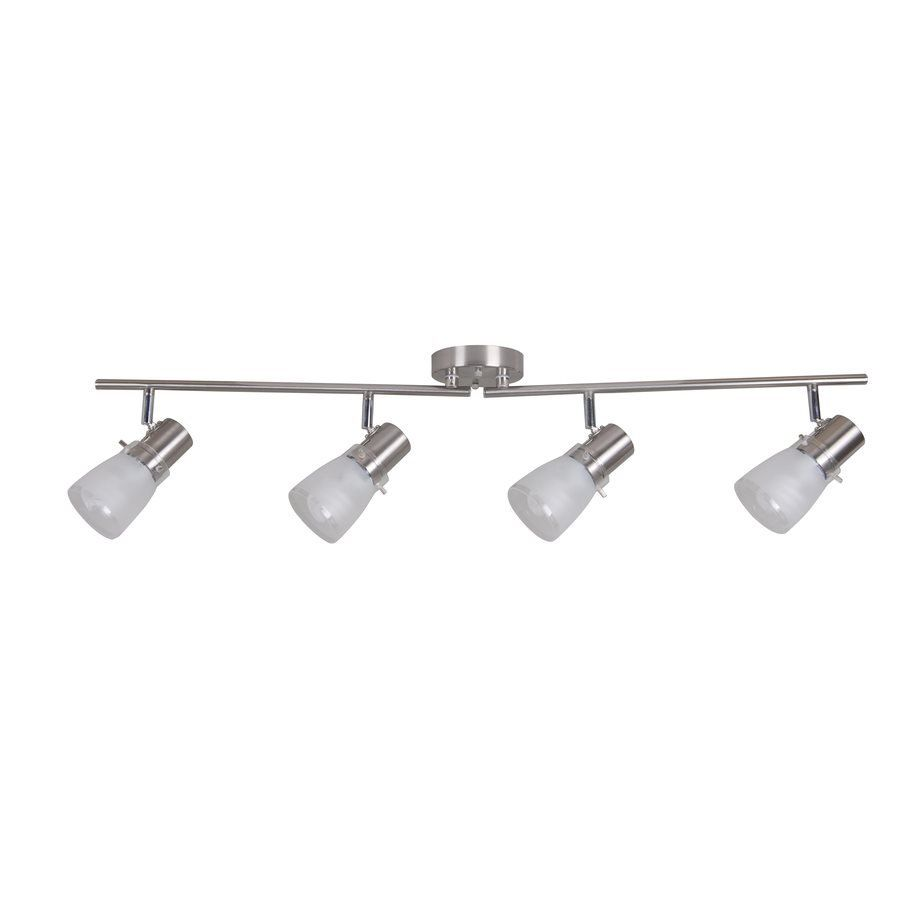 Lowes Track Lighting Fixtures: Portfolio 4-Light Stainless Steel Fixed Track Light Kit