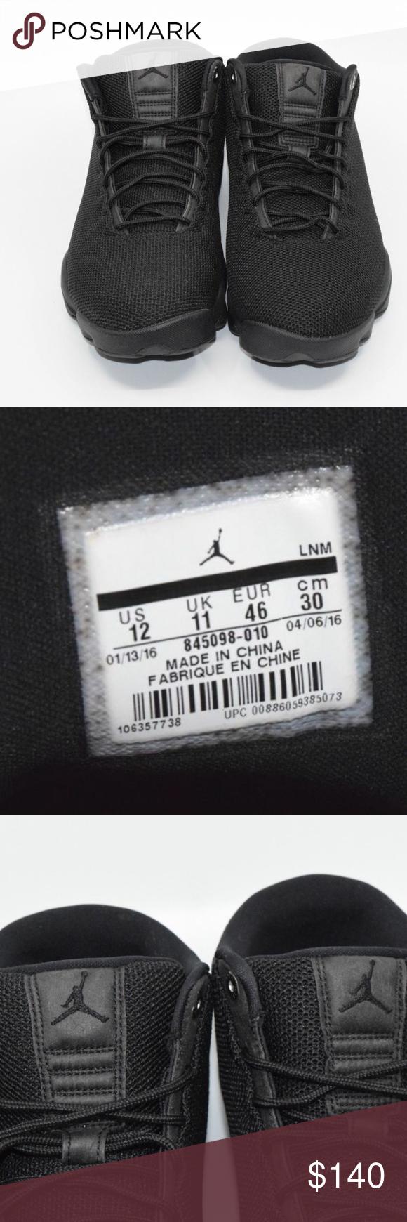 4d9e90d3a99a Nike Air Jordan Horizon Low Triple Black Limited Nike Air Jordan Horizon  Low Triple Black Limited Retro Size 12 Mens 845098-010 New without Box Jordan  Shoes ...