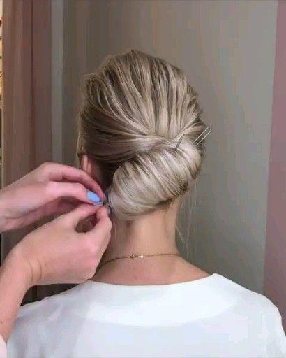Cute Hair Style Tutorial Hairtutorial Hairstyles Hair Upstyles Hair Styles Medium Hair Styles