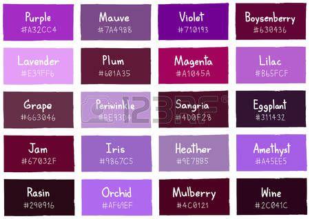 Tone Violet Shade Color Background with Code et Nom Illustration