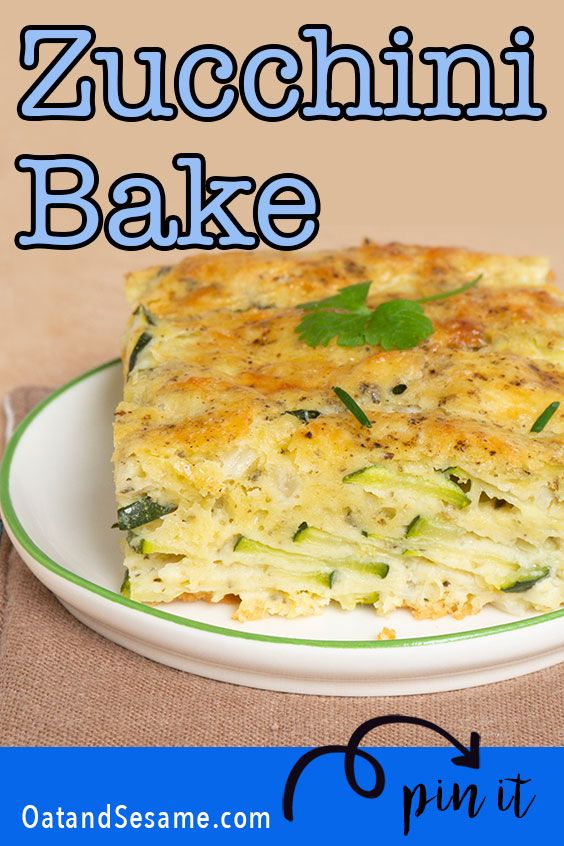 Photo of Baked Zucchini Pie