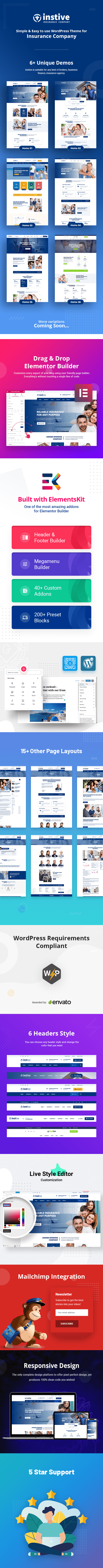 Instive Is A Unique Insurance Agency Wordpress Theme Specially