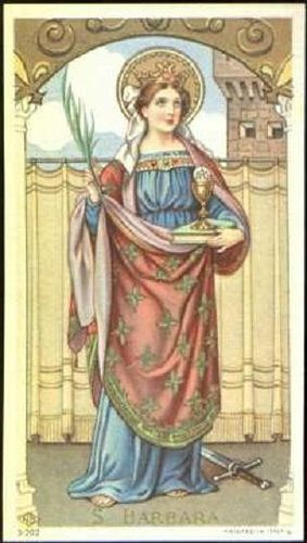 Barbara Saint Barbara Blessed Mother Mary Traditional Catholicism