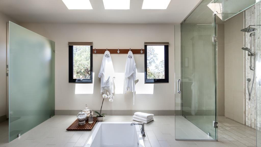 Tiletuesday Highlights A Stunning Spa Bathroom Installation Of Our Specular Acamar Out Of Sacrame Bathroom Installation Master Bathroom Shower Modern Bathroom