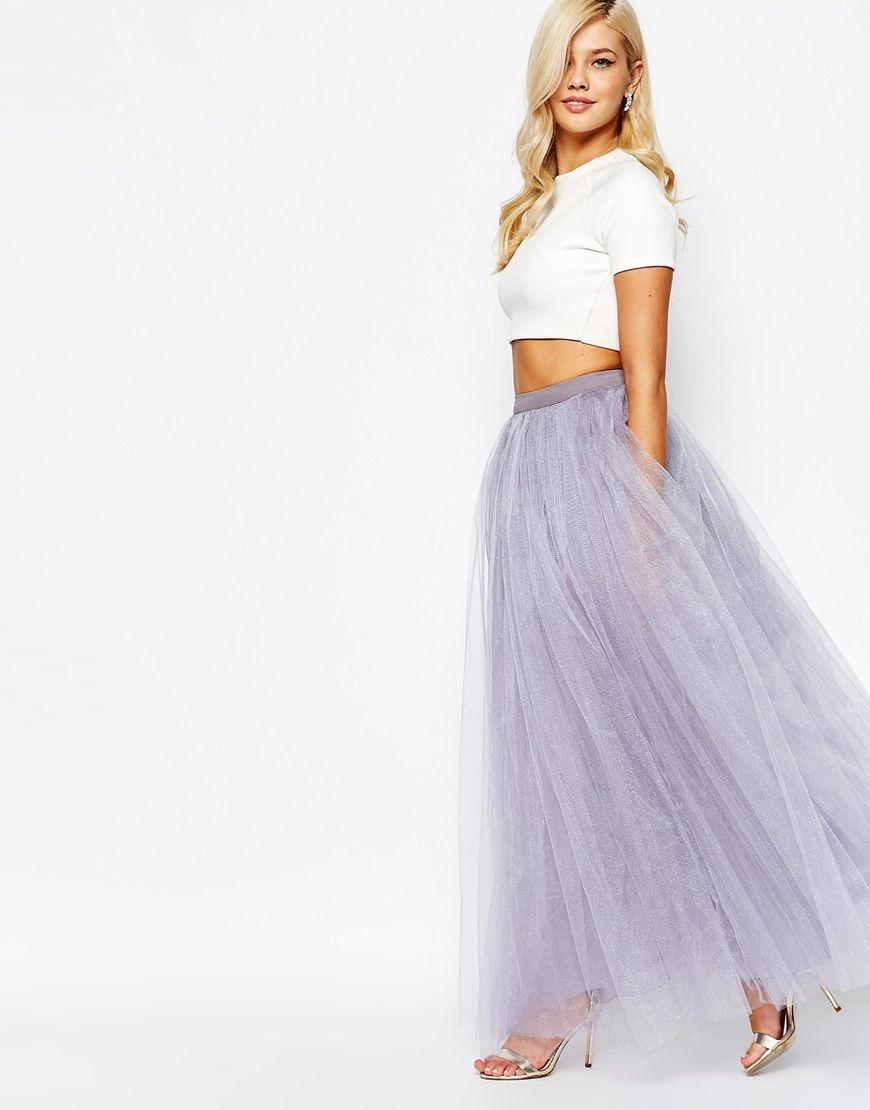 bd8cedc5d9 Little Mistress Maxi Tulle Prom Skirt | vestido de boda | White ...