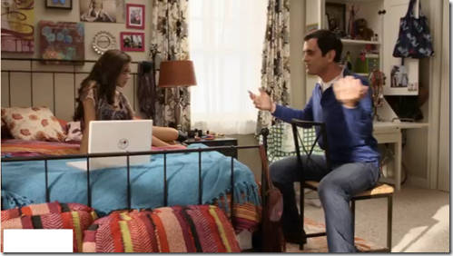 Charmant Modern Family: Dunphy House. Girls Bedroom. Love The Dark Iron Bed W/  Lights/brights Everywhere Else.