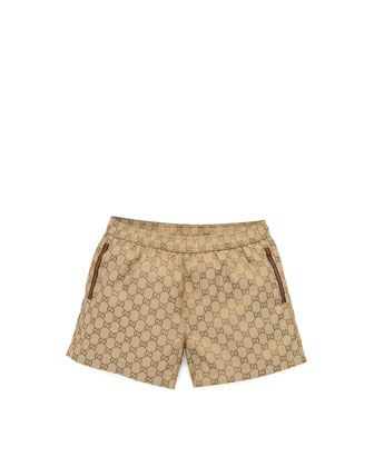 1f474023e2 GG Jacquard Swim Trunks Beige | fashion | Swim trunks, Boys swimwear ...