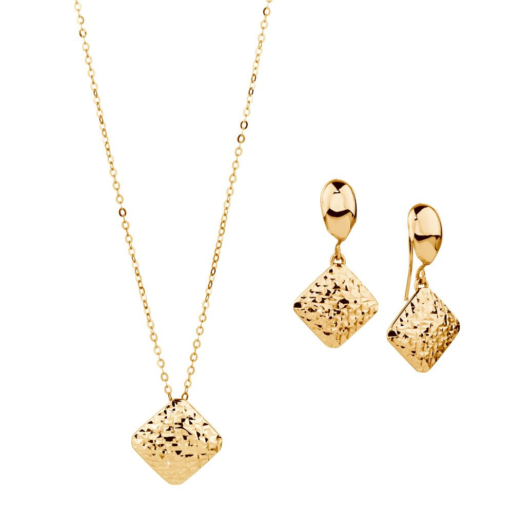 7b18d9d701 10CT YELLOW GOLD PENDANT and earrings - Michael Hill jewellers ...