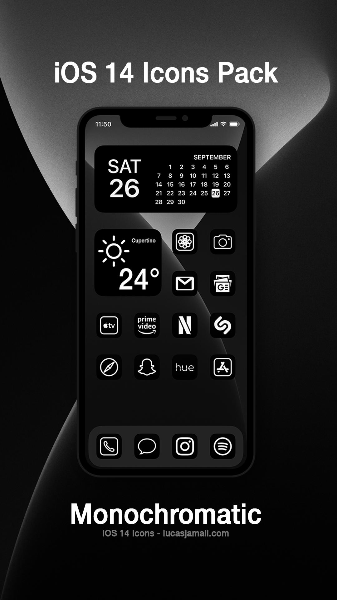 Ios 14 Icons Iphone Photo App Homescreen Iphone Black App