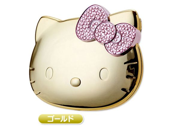 b79fc9cef Hello Kitty Mini Compact Mirror Gold SANRIO JAPAN | HELLO KITTY ...
