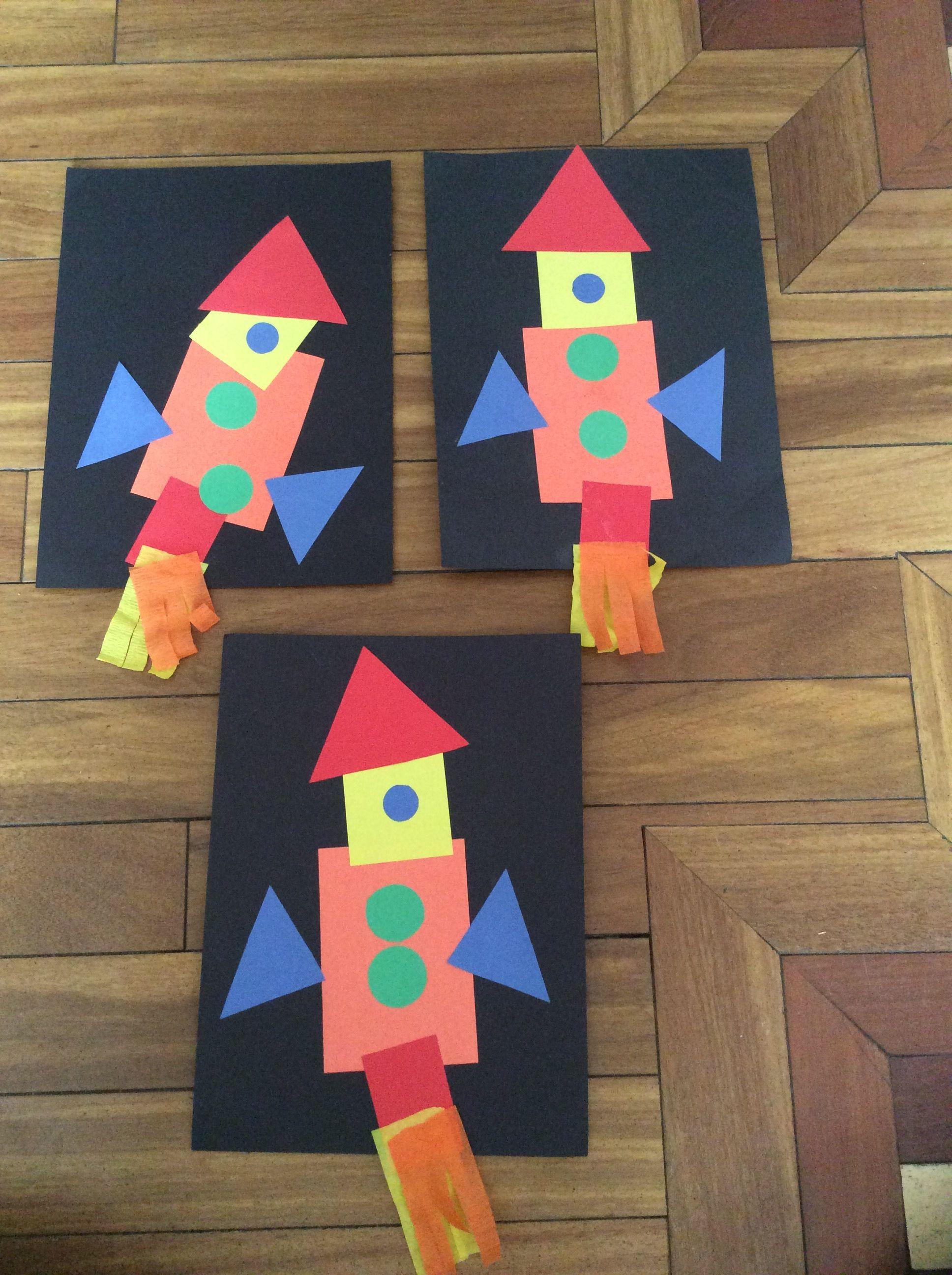 Shapes Rocket Ship
