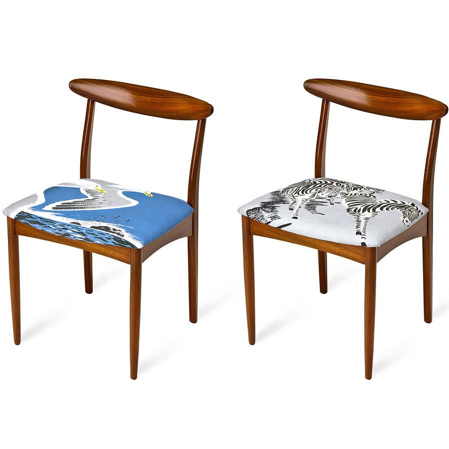 Set of two bird and zebra dining chairs dining chairs bird and