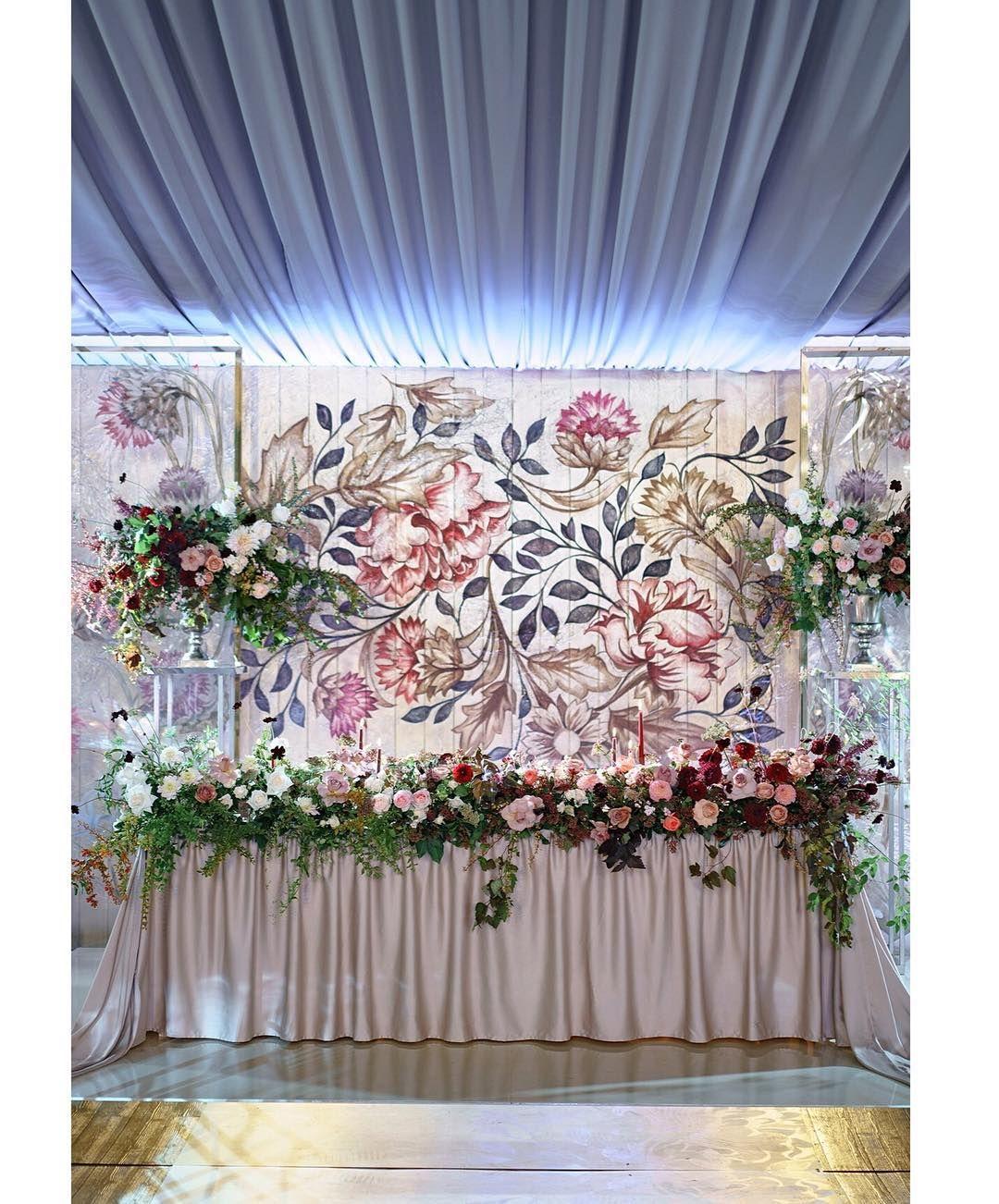 Wedding decorations backdrop  Фантастическое панно ручной работы выполненное по эскизу ткани