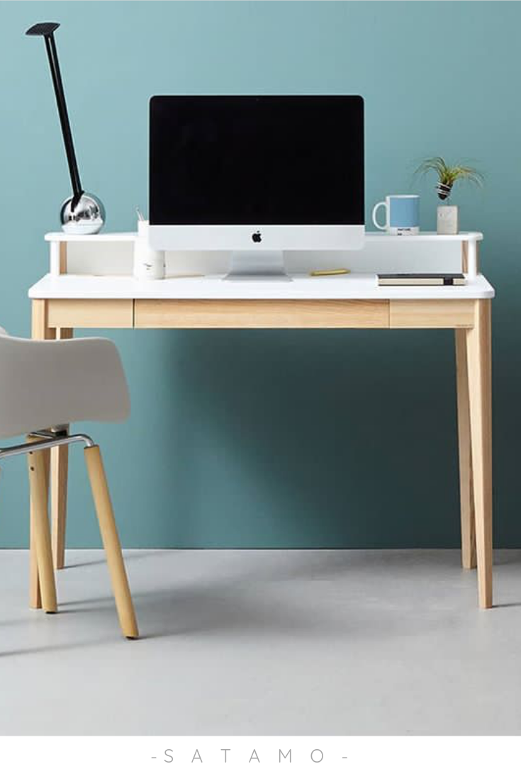 Schreibtisch Schmal Weiß 2021
