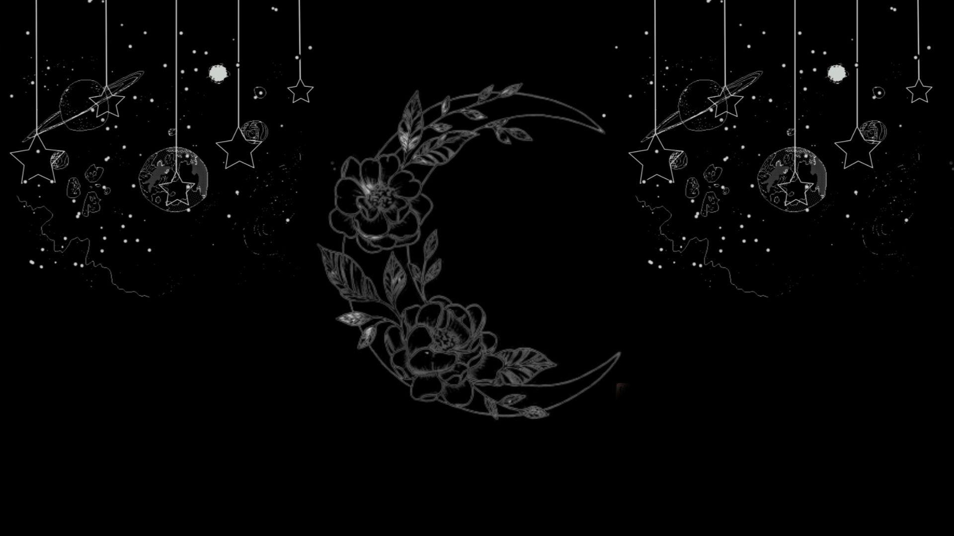 Resultado De Imagen De Moon Drawing Tumblr Black Background Black Wallpapers Tumblr Hipster Wallpaper Tumblr Wallpaper