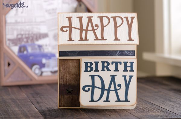 Free Dimensional Birthday Card And Envelope Cutting File From