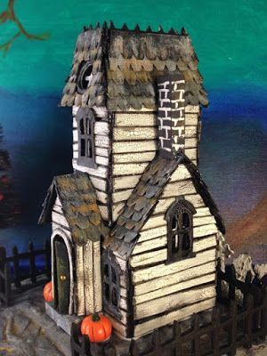 Welcome to the Halloween Village Dwellings for Haunted Holtzville - Paper Glitter Glue #halloweenvillage