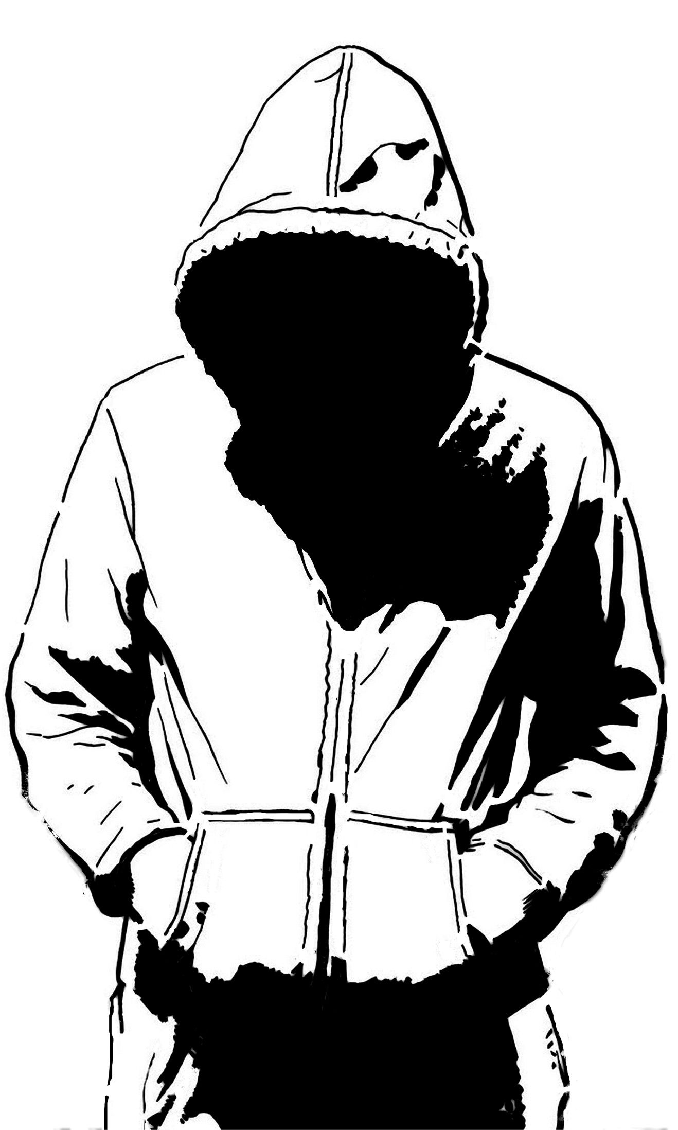 It's just a picture of Tactueux Guy In Hoodie Drawing