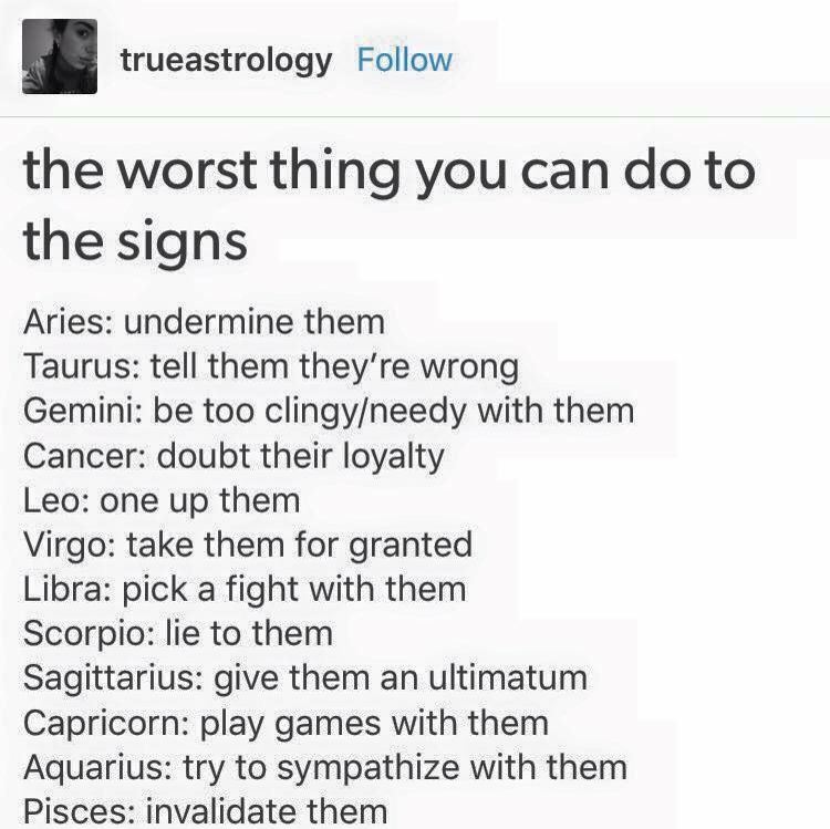 The Worst Thing You Could Do To The Signs Zodiac Zodiac Sign List Zodiac Signs Sagittarius Zodiac Star Signs