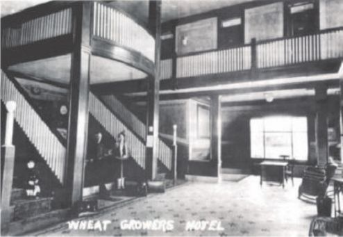 Wheat Growers Hotel In Kimball Ne Note The Bundle Of Mosaic On Floor Front Desk Where Is Standing