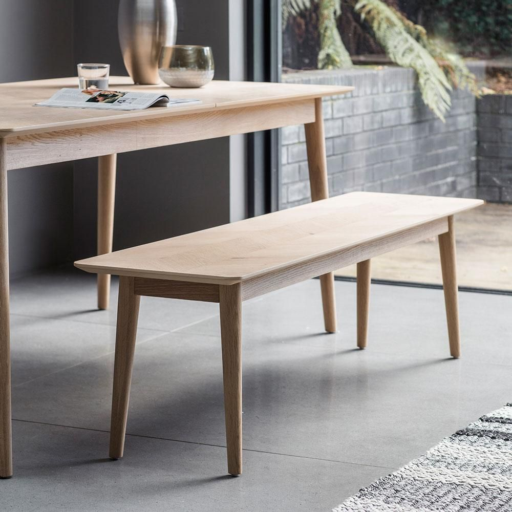 Groovy The Modern Light Oak Dining Bench In 2019 Light Oak Dining Squirreltailoven Fun Painted Chair Ideas Images Squirreltailovenorg