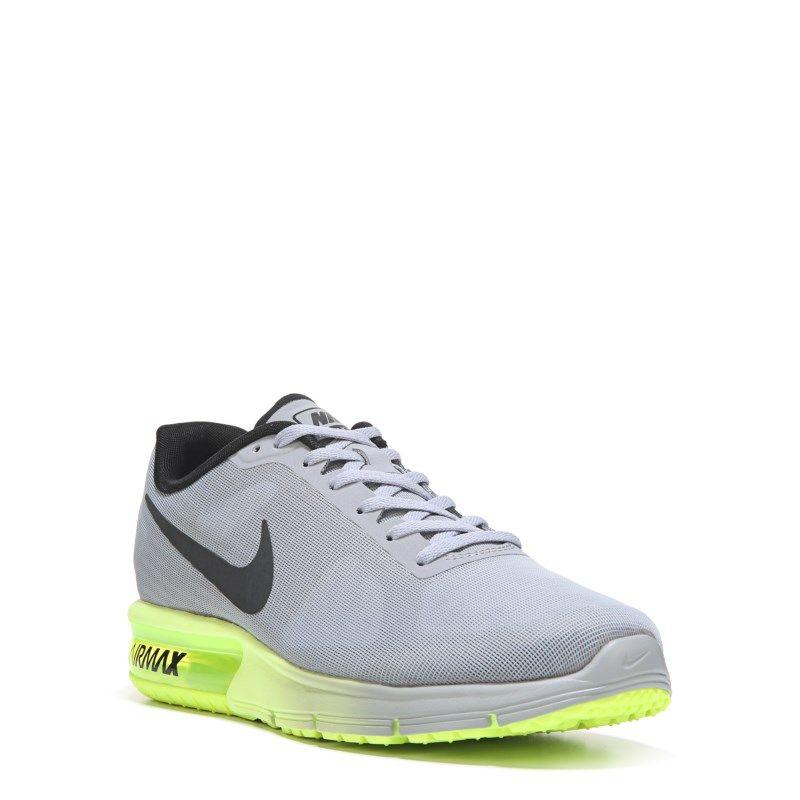 check out 40de6 835ed Nike Men s Air Max Sequent Running Shoes (Grey Black Volt) - 11.0 D