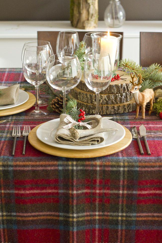 xmas table setting & xmas table setting | Tables | Pinterest | Xmas Tartan and Tartan ...