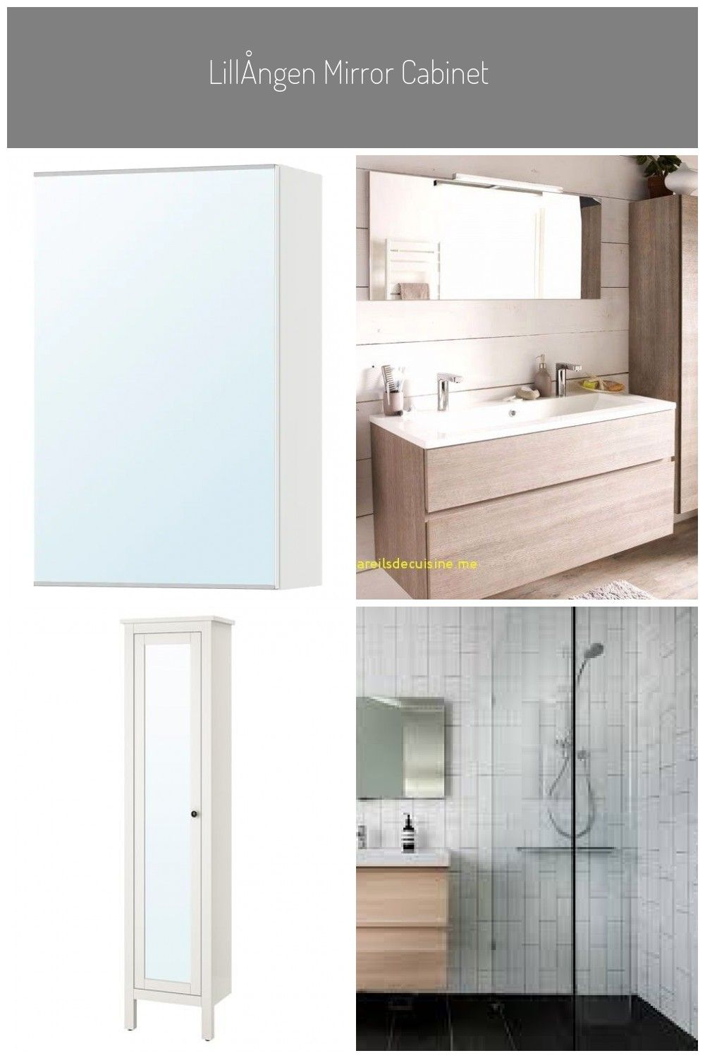 Lillangen Mirror Cabinet With 1 Door White Ikea Badezimmer Spiegelschrank Ikea Lillangen Mirror Cabinet With In 2020 Mirror Cabinets Mirror White Vanity Bathroom