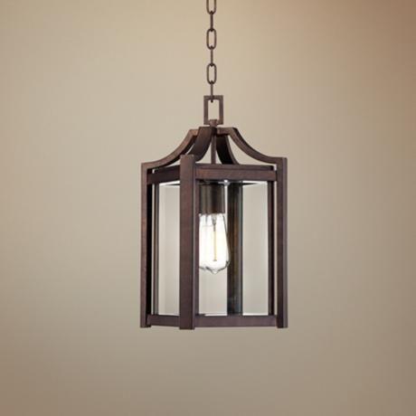Franklin Iron Works 17 High Bronze Outdoor Hanging Light Update