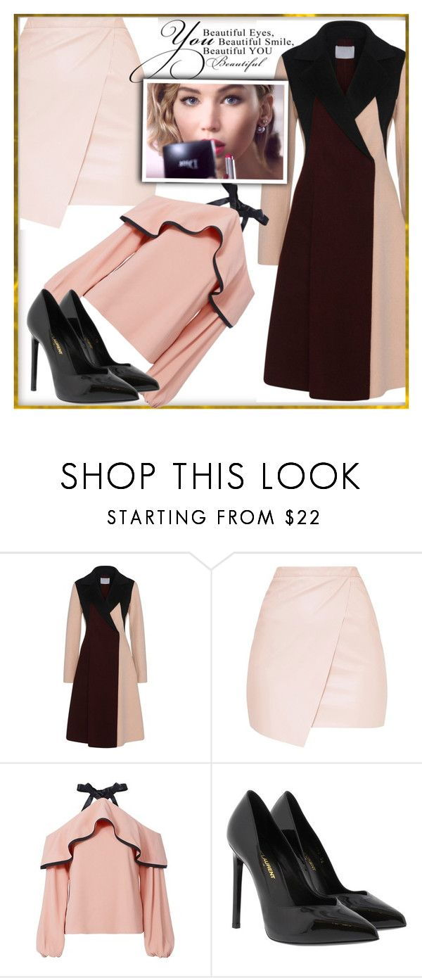 """Bez naslova #40"" by lili-876 ❤ liked on Polyvore featuring Alexis and Yves Saint Laurent"