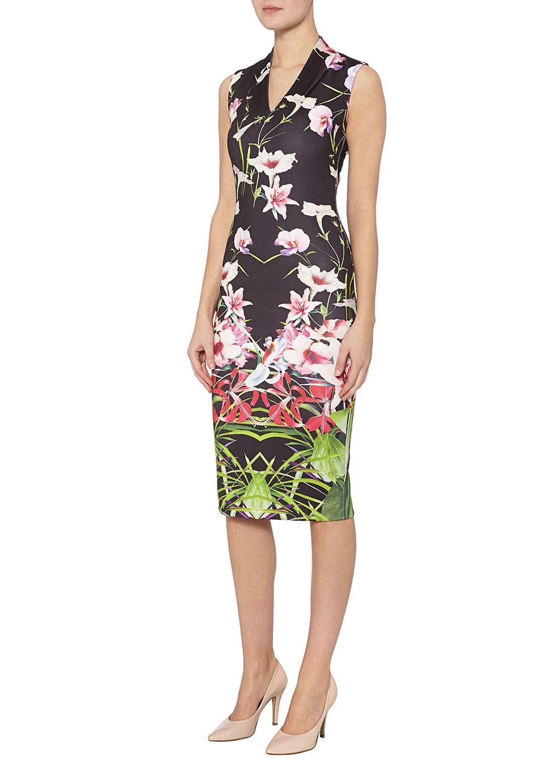 e0f3b3531eac4 Ted Baker Midi-jurk met bloemendessin • de Bijenkorf