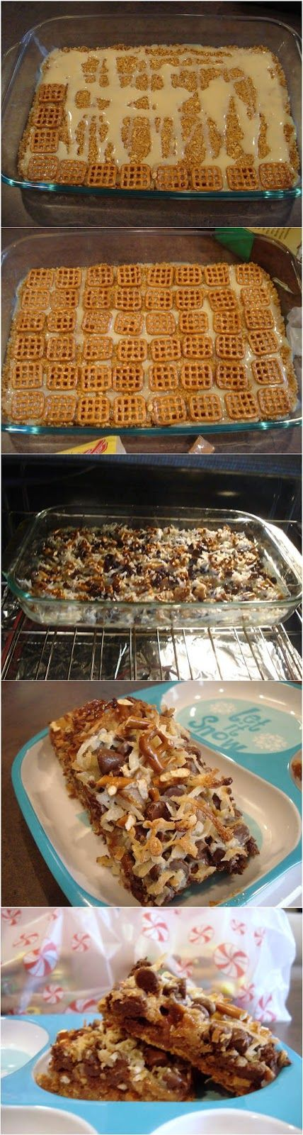 Caramel Pretzel Magic Bars!  MADE I pretend I only make this because my family loves it, but I'm pretty addicted to it myself! Mmmm! is part of Desserts -