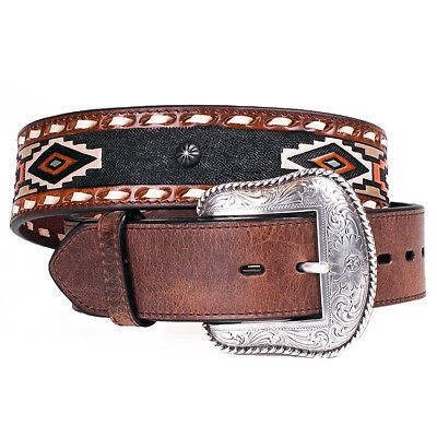 4458993b221 ROPER MENS LEATHER TRIBAL INSPIRED 1.5